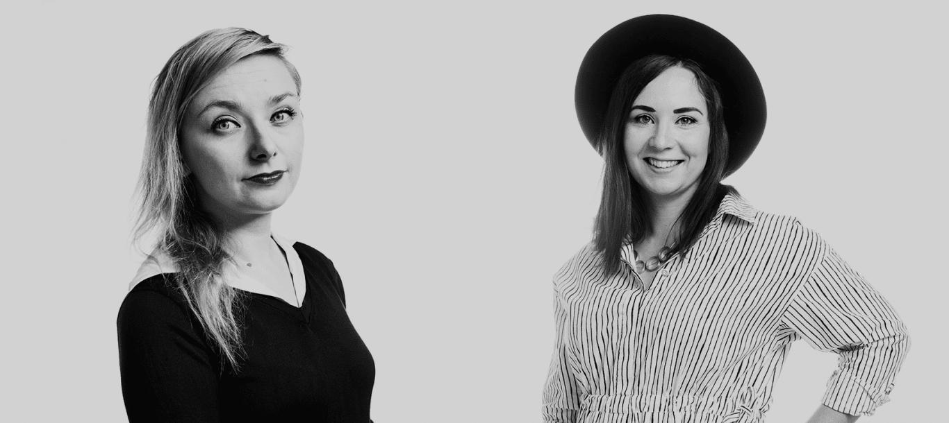 Suvi Auvinen ja Reetta Nurmo.