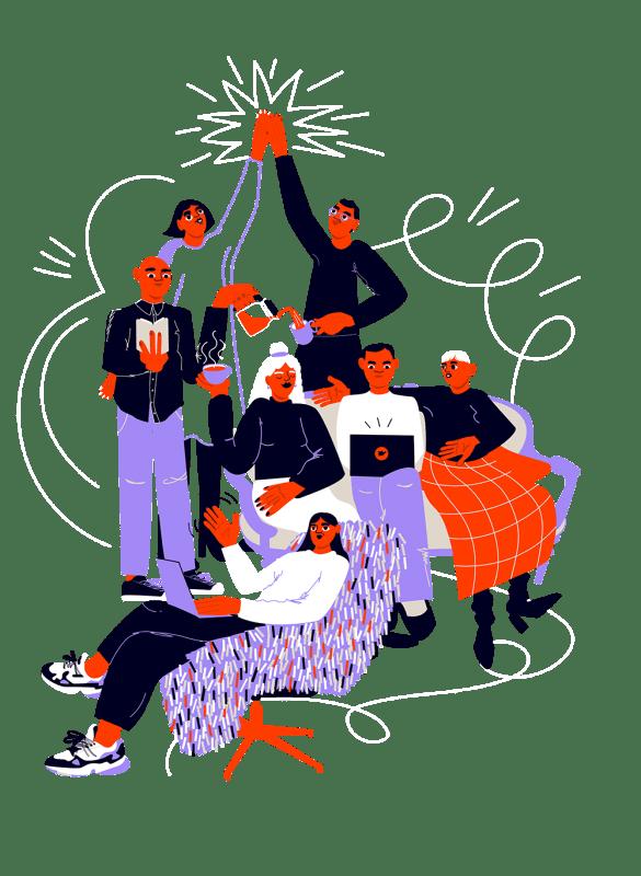 Työyhteisö, jossa on hyvä yhteishenki.