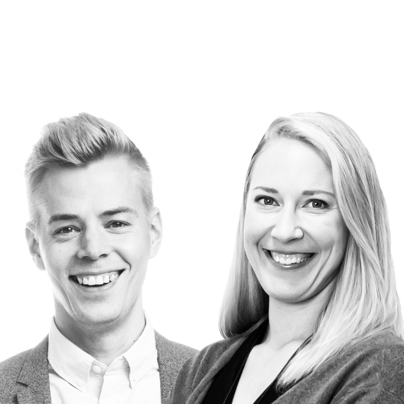 Antti Hyrkäs ja Mona Moisala